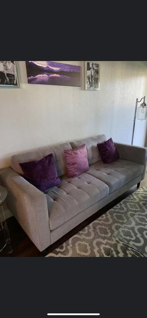 Modern Grey Sofa and Love Seat Set for Sale in Livermore, CA