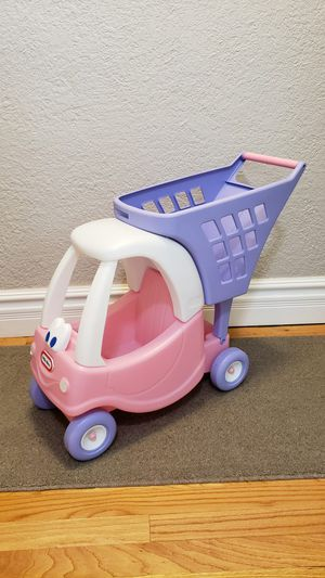 Tikes cozy Coupe grocery cart with doll buggy for Sale in Phoenix, AZ