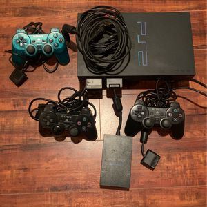 PS2 Sony PlayStation Plus 3 Controllers And Multi tap for Sale in Culver City, CA
