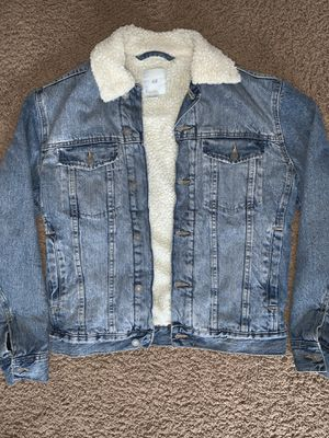 H&M Sherpa Denim Jacket sz: Small for Sale in Cypress, CA