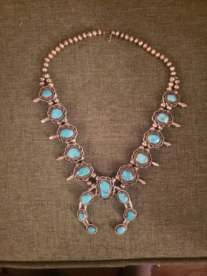 Very nice turquoise necklace, one of a kind for Sale in Albuquerque, NM