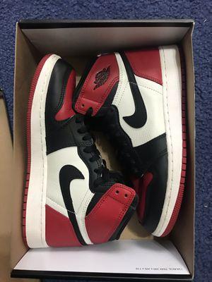 Nike Air Jordan 1 Retro Bred Toe Size 6.5Y for Sale in Lincolnia, VA