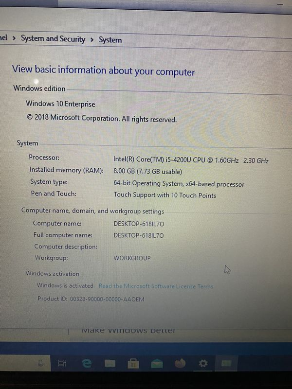 Lenovo Ideapad Flex 15 Intel I-5 Core 8GB Touchscreen Laptop