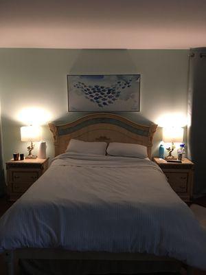 Luxury Bedroom Set - Bed, Dresser and Mirror, Wardrobe, 2 side tables for Sale in Woodbridge, VA