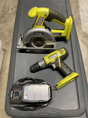 RYOBI - Cordless Drill and Cordless Saw w/ Battery Charger for Sale in San Diego, CA
