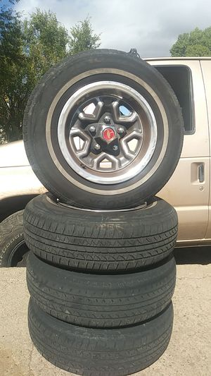 Chevy elcamino rims with caps for Sale in Payson, AZ