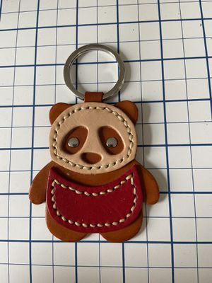 Handmade, hand-stitched leather Panda keychain/charm for Sale in Elizabeth, NJ