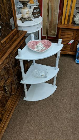 Small White Corner Shelf for Sale in Mesa, AZ