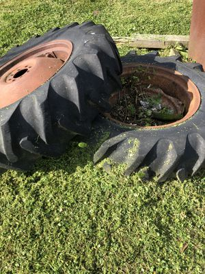 "Tractor tires. 13.6-28 on 12""rims 12-28 for Sale in Sorrento, LA"