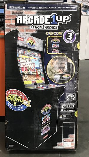 Arcade 1 up two different versions street fighter(SOLD OUT )and Rampge with other games both are awesome new in the box never opened these are awesom for Sale in Medford, MA