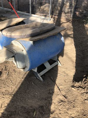 Barrel dog house and one broken for free for Sale in Winchester, CA