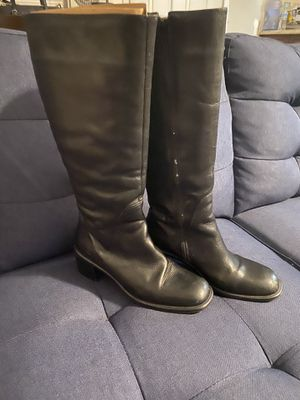 Valerie Stevens Women's Tall Black Leather Dress Boots Size 8 for Sale in San Bernardino, CA