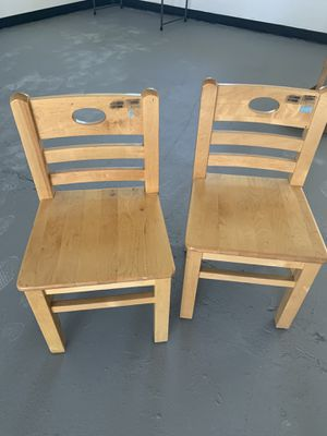 Solid Wood Kids chairs - by Lakeshore for Sale in Anaheim, CA