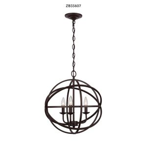 Home Decorators Collection Sarolta Sands 3-Light Bronze Orb Chandelier for Sale in Dallas, TX