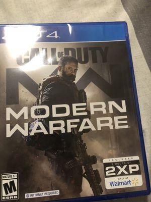 PS4 Call of Duty Modern Warfare w/ 3 hours of XP for Sale in Avondale, AZ