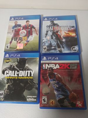 4 ps4 video games for Sale in Boston, MA