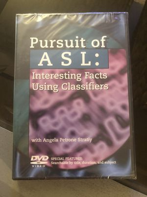 NEW Palomar College ASL DVD Pursuit of ASL for Sale in San Marcos, CA