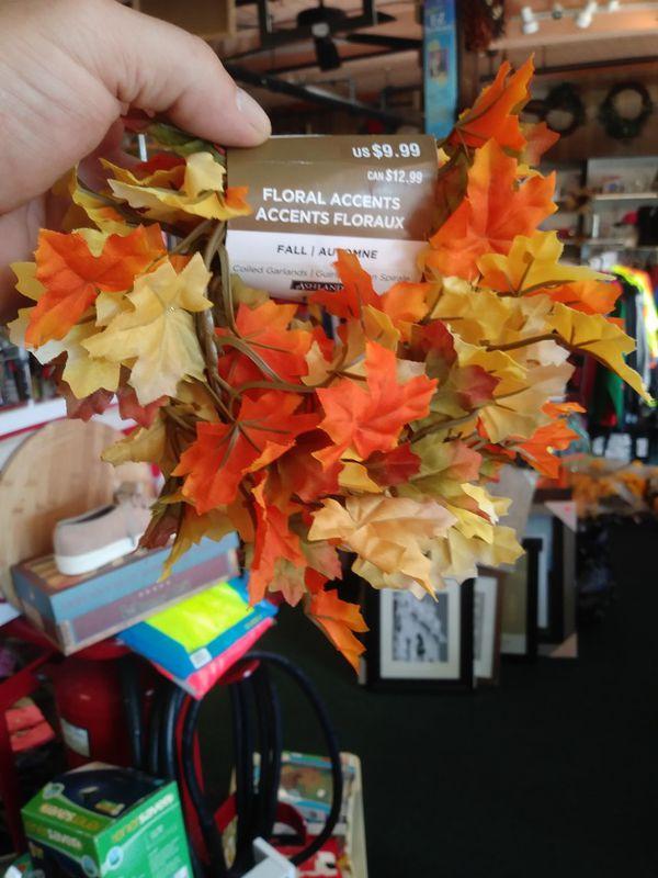 Fall flowered garland