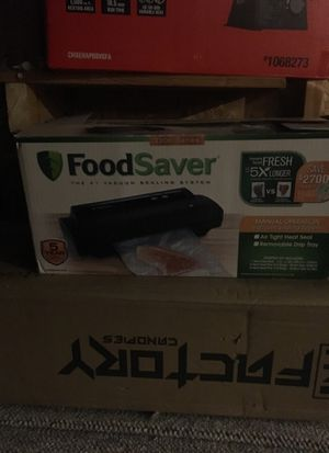 Food saver brand new box was opened but everything is still in factory bags for Sale in East Moline, IL