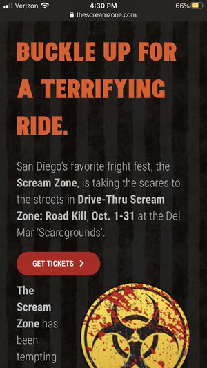 WILLING TO BUY Screamzone tickets for Sale in Chula Vista, CA