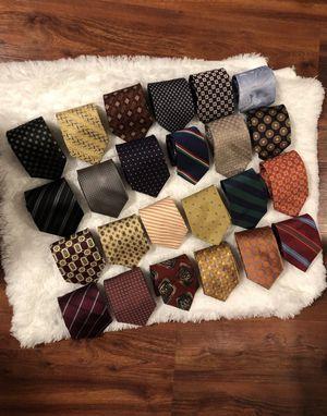 Lot of 24 Designer Silk Ties-Hugo Boss for Sale in Alexandria, VA