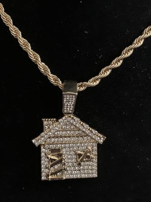 Trap House Pendant Necklace Charm 18kt Gold Plated (Please Read Description) for Sale in Seattle, WA