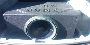 15 Inch Fosgate P3 Subwoofer in Qbomb ported box for Sale in Denver, CO
