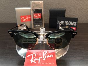Ray-Ban Sunglasses Clubmaster Folding for Sale in Temecula, CA
