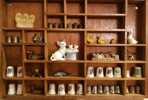 Antique Shelf With Figurines for Sale in San Angelo, TX
