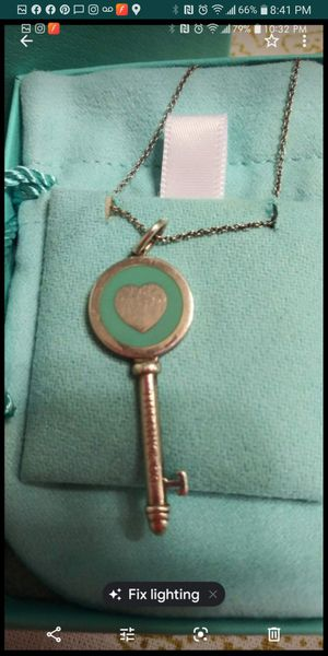Tiffany key heart necklace retired rare for Sale in Ontario, CA