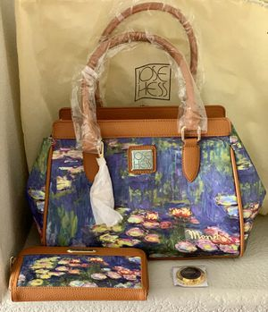 Brand New Jose Hess Water Lilies Handbag with wallet for Sale in San Diego, CA