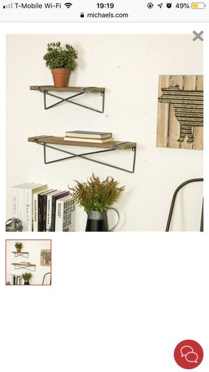 RUSTIC WALL SHELVES SET OF 2 for Sale in West Covina, CA