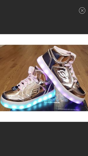 Skechers Light up Rose Gold Sneakers for Sale in Rochester, NY