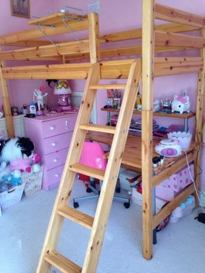 Flexa Full Size High Loft Bed with Desk for Sale in Wakefield, MA