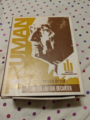 Vintage 1973 8' inch Give Em Hell Harry S Truman Decanter 1st Edition New in Box Make Offer for Sale in Parma, OH