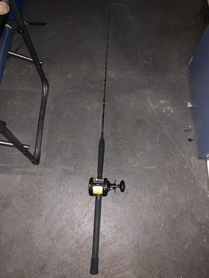5'8 80-200lb Shimano Trevala with a Penn Warfare 30LW with 80lb braid for Sale in Kent, WA