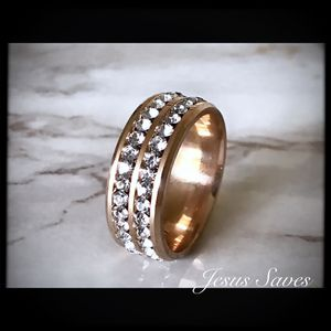 Rose Gold Stainless Steel CZ Ring Size 7/10/11 for Sale in Fresno, CA