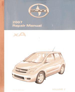 2007 Scion XA Repair Manual Vol. 2 for Sale in Rosemead, CA