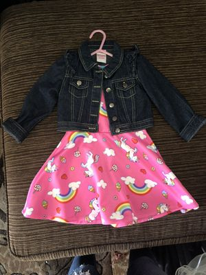 Unicorn and Flower Dress with Jean jackets for Sale in Riverside, CA