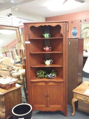 Wooden Corner Cabinet $150 for Sale in Hatboro, PA