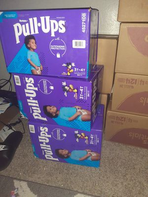 Huggies pullup whips cuties dippers for Sale in Arlington, TX