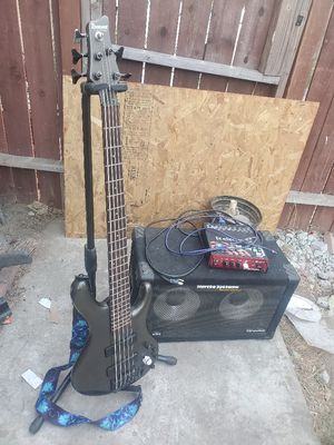 Ibanez ergodyne 5 string bass, Hercules bass strand, hartke system transient attack and TC Electronics Bass head for Sale in Rialto, CA
