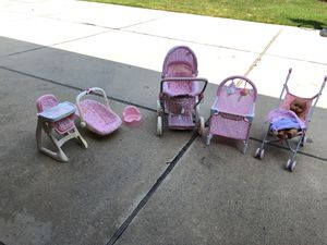 Corolla baby items for little girls playtime for Sale in Northville, MI