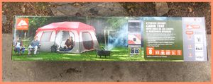 Ozark Trail 8 Person Instant Cabin Tent with LED Lighted Poles and Bluetooth Speaker. Brand New in Box! for Sale in Modesto, CA