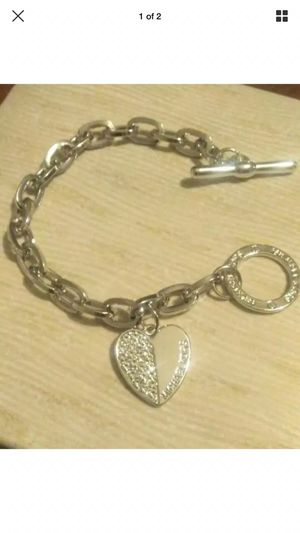 Mk Michael kors heart charm bracelet for Sale in Silver Spring, MD