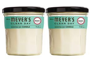 Mrs. Meyer's Clean Day Scented Soy Candle, Large Glass, Basil, 7.2 oz, (Pack of 2) for Sale in Bell Gardens, CA