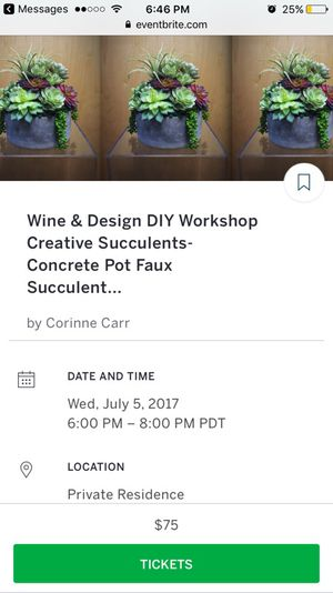 DIY Succulent Workshop for Sale in Poway, CA