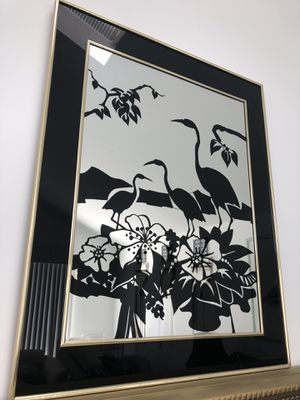 Wall Art -Set of four art on mirror pictures excellent condition for Sale in Lavallette, NJ