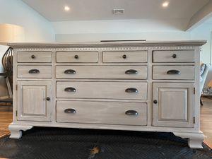 Ethan Allen distressed grey dresser for Sale in Foxborough, MA
