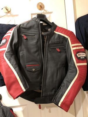 Leather motorcycle jacket. Size EU 48 for Sale in Arlington, VA